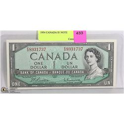 1954 CANADIAN  $1 NOTE