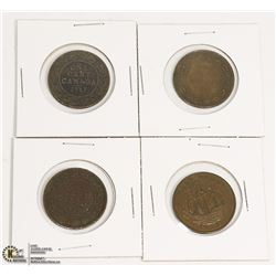 GROUP OF CANADIAN 1956 HALF PENNY & THREE 1917