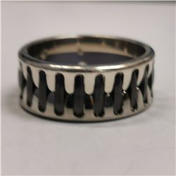 SILVER MEN'S RING (~WEIGHT 9.8G)