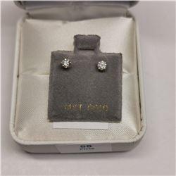 14K YELLOW GOLD 2 DIAMOND(0.24CT)  EARRINGS