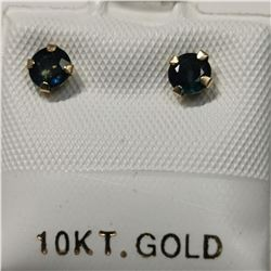 10K YELLOW GOLD 2 SAPPHIRE(0.66CT)  EARRINGS