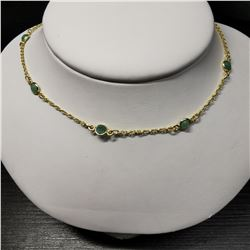 SILVER EMERALD(4.5CT)  NECKLACE