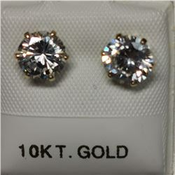 10K YELLOW GOLD CUBIC ZIRCONIA(6.5 MMCT)