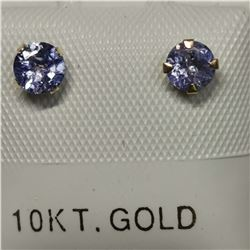 10K YELLOW GOLD TANZANITE(0.54CT) FRESHWATER