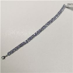 SILVER TANZANITE(8.2CT)  BRACELET, MADE IN CANADA