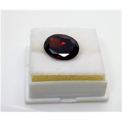 16)  BLOOD RED OVAL ZIRCON GEMSTONE,
