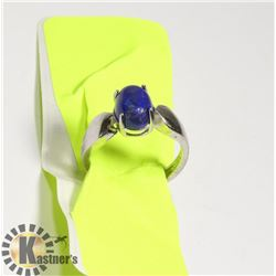 NATURAL  LAPIS LAZULI WOMEN RING ADJUSTABLE SIZE