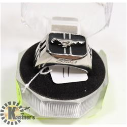 925 STERLING SILVER FORD MUSTANG MENS