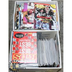 2 BOXES OF COLLECTIBLE SPORTS MAGAZINES