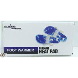 PALM NRG REUSABLE FOOT WARMER HEAT PADS