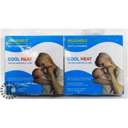 NEW PAIR OF COOLHEAT REUSABLE BOTTLE WARMERS