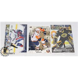 LOT OF 3 OVERSIZED RC CARDS (LUNDQVIST, SUBBAN