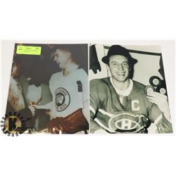 2 JEAN BELIVEAU PHOTOGRAPHS (CANADIENS, ACES)