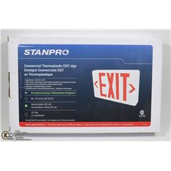 THERMOPLASTIC EXIT SIGN WITH 90 MIN EMERGENCY