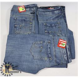 3 PAIRS OF KIDS JEANS SIZE, AGE 10