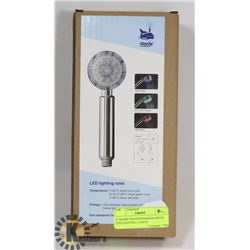 "3"" DIAMETER SHOWERHEAD WITH  LED LIGHTING, LIGHTS"