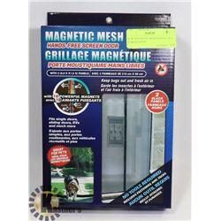 NEW MAGNETIC MESH HANDS FREE SCREEN DOOR