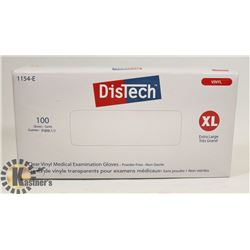 100 COUNT DISTECH CLEAR VINYL MEDIAL EXAMINATION