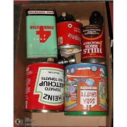 ESTATE BOX OF VINTAGE ADVERTISING TINS