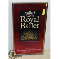 VINTAGE FRAMED SADLERS WELK ROYAL BALLET A