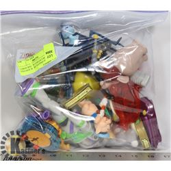 LARGE BAG OF COLLECTABLE VINTAGE HARD TO FIND TOYS