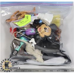 BAG OF MISC. COLLECTABLE TOYS