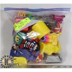 LARGE BAG OF COLLECTABLE VINTAGE MISC TOYS