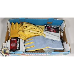 5 NEW PAIRS OF WELDING GLOVES