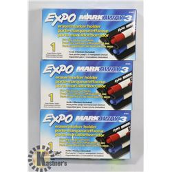 3 PACKS OFEXPO MARKAWAY DRY ERASE MARKERS