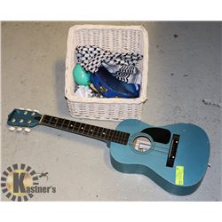 BLUE GUITAR W/ TAMBOURINE, MORROCOS AND OTHER