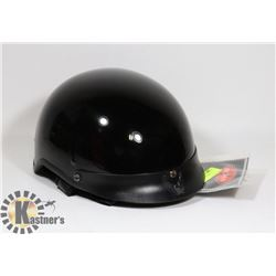 BLACK WITH EAGLE ON RIM 1/2 HELMET NEW