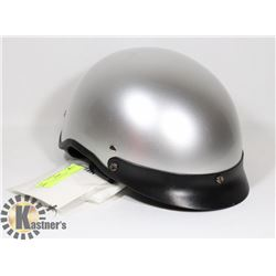 SILVER 1/2 HELMET NEW