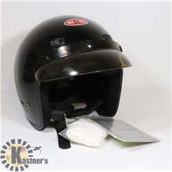 BLACK 3/4 HELMET NEW