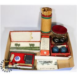 FLAT OF CHINESE ART TOOLS PLUS INK,