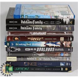 BOX OF TV SERIES DVDS
