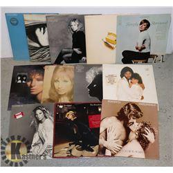 BOX OF 12 BARBRA STREISAND LPS