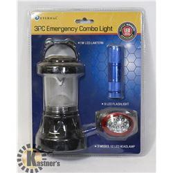NEW 3PC LED EMERGENCY LIGHT COMBO KIT