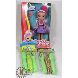 FLAT WITH KIDS DOLL AND SKIP ROPES