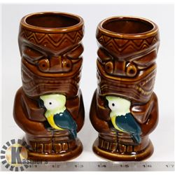TWO EARLS NOVELTY TIKI CUPS