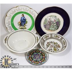FLAT OF COLLECTIBLE CHINA PLATES AND MORE