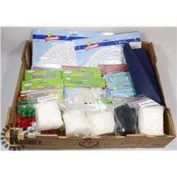 FLAT OF ASSORTED CRAFTING SUPPLIES