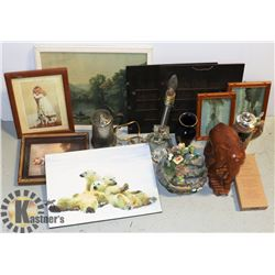 BOX OF MISCELLANEOUS ESTATE ITEMS