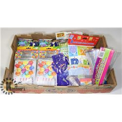 FLAT OF ASSORTED PARTY SUPPLIES