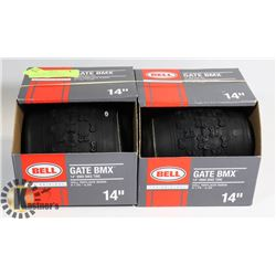 "LOT OF TWO NEW BELL 14"" REPLACEMENT BMX TIRES"