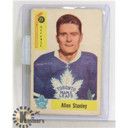 ALLAN STANLEY 1958-59 PARKHURST CARD MAPLE LEAFS