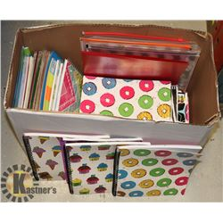 LARGE LOT OF NEW SCHOOL SUPPLIES, COIL BOOKS