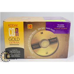 20 PACK OF KODAK CDR GOLD RECORDABLE DISCS
