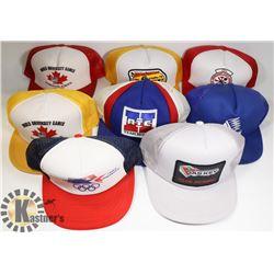 BOX W/8 NEW ADJUSTABLE BASEBALL CAPS