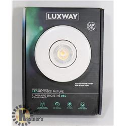 """NEW LUXWAY COMPLETE 4"""" LED RECESSED FIXTURE"""