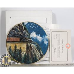 """RAIL """"WHITE PASS"""" PLATE 22KT ONLY 15,000 MADE"""